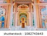 Small photo of Patrika gate. The ninth gate of Jaipur locate at Jawahar Circle, Jaipur, Rajasthan, India. (Mar 14, 2018)