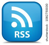rss isolated on special cyan...   Shutterstock . vector #1082750030