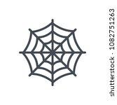 spider net line halloween...   Shutterstock . vector #1082751263