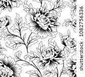 floral seamless pattern. flower ... | Shutterstock .eps vector #1082756336