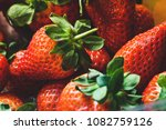 fresh juicy strawberries | Shutterstock . vector #1082759126