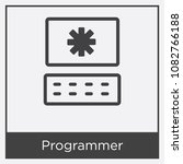 programmer icon isolated on... | Shutterstock .eps vector #1082766188