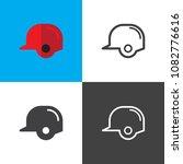 baseball helmet icons | Shutterstock .eps vector #1082776616