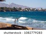 red sea in dahab  sinai  egypt   Shutterstock . vector #1082779283