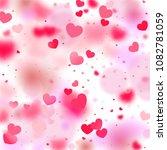 hearts random background. st.... | Shutterstock .eps vector #1082781059