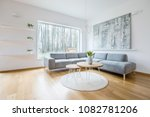 two hairpin tables placed on a... | Shutterstock . vector #1082781206