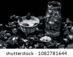 close up of ayurvedic and... | Shutterstock . vector #1082781644