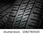 new and unused car tires... | Shutterstock . vector #1082783420