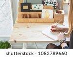 close up of a girl writing a...   Shutterstock . vector #1082789660