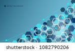 abstract geometric technology... | Shutterstock .eps vector #1082790206