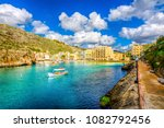 xlendi town is one of the most... | Shutterstock . vector #1082792456