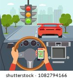 woman hands of a driver on... | Shutterstock .eps vector #1082794166