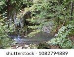 Stock photo autumn forest selva de irati fall beech jungle in navarra pyrenees of spain cascade 1082794889