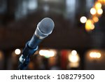 close up of microphone in... | Shutterstock . vector #108279500