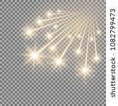 glittering falling stars ... | Shutterstock .eps vector #1082799473