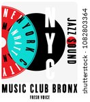 nyc  new york  music poster... | Shutterstock .eps vector #1082803364