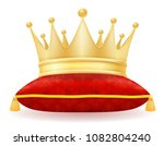 king royal golden crown vector... | Shutterstock .eps vector #1082804240