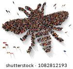 large and diverse group of... | Shutterstock . vector #1082812193