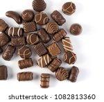 beautiful creative chocolate...   Shutterstock . vector #1082813360