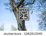 speed limit 25 | Shutterstock . vector #1082813540
