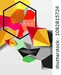 color 3d geometric composition... | Shutterstock .eps vector #1082815724