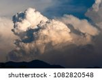 cumulonimbus in dramatic sunset ... | Shutterstock . vector #1082820548