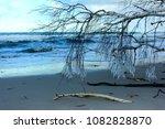 winter beach after the storm... | Shutterstock . vector #1082828870