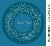 handdrawn wreath made in vector.... | Shutterstock .eps vector #1082841980