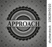 approach realistic dark emblem | Shutterstock .eps vector #1082845010