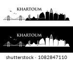khartoum skyline   sudan  ... | Shutterstock .eps vector #1082847110