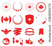 canada day. decorative elements ... | Shutterstock .eps vector #1082850173