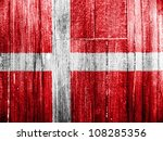 the danish flag painted on... | Shutterstock . vector #108285356