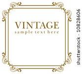 vector vintage frame | Shutterstock .eps vector #10828606
