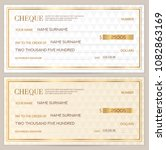 check  cheque   chequebook... | Shutterstock .eps vector #1082863169