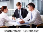 business team bursting out... | Shutterstock . vector #108286559