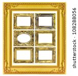 the antique gold frame on the... | Shutterstock . vector #108288056