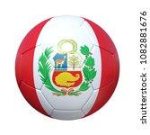 peru peruvian soccer ball with...   Shutterstock . vector #1082881676
