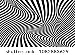 optical art wave abstract... | Shutterstock .eps vector #1082883629