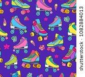 roller derby skates seamless... | Shutterstock .eps vector #1082884013