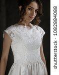 supermodel in wedding bridal... | Shutterstock . vector #1082884088