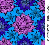 samless pattern with black... | Shutterstock . vector #1082886590