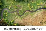 aerial view of natural river in ... | Shutterstock . vector #1082887499