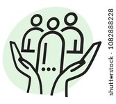 community support with group of ... | Shutterstock .eps vector #1082888228