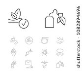 cosmetology icons set with... | Shutterstock .eps vector #1082894696