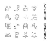 cosmetology icons set with acne ... | Shutterstock .eps vector #1082894699