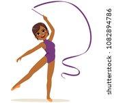 beautiful african american...   Shutterstock .eps vector #1082894786