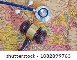 doctor's medical stethoscope... | Shutterstock . vector #1082899763