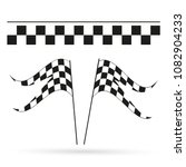 two formula. flag. speed flags. ... | Shutterstock .eps vector #1082904233