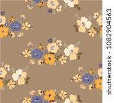 vintage seamless flowers.... | Shutterstock .eps vector #1082904563