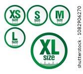 set icons symbols size clothing ... | Shutterstock .eps vector #1082906270